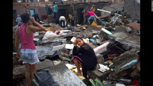 The Category 4 storm, Hurricane Matthew left nothing but devastation in its wake as it roared through the Caribbean and up the southern coast of the United States. here, a Cuban woman mourns the loss of her home.