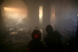 The Syrian civil war continues to rage as firefighters try to quell the may fires that continue to break out around Damascus due to heavy air attacks.